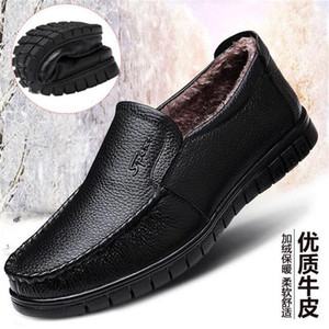 2021 New mens loafers shoes high quality Leather Rivets dress shoes men casual trainers men shoes