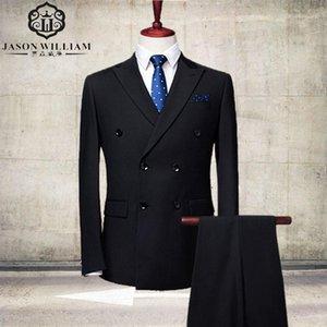 Мужские костюмы Blazers LN048 2021 Groom Tuxedos Высококачественные люди для свадебных бизнес-износа (куртка + брюки) 2 шт.