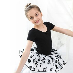 Ballet Dress Girls Ballerina Black Swan Balletto Costume Cotton Classic Leotard Ballerina Flocking Tulle Tutu Dance Dress1