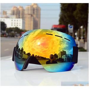 big ski goggles winter sports snowboard windpro sunglasses anti-fog uv protection for men women snowmobile skiing sport skating