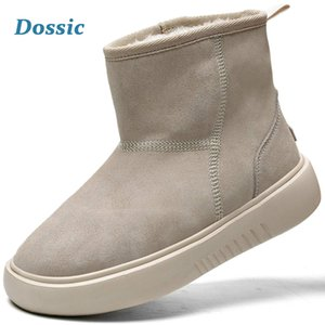 Dossic inverno botas de neve por Mulheres Waterproof Duplas não derrapante exterior rodeada quentes sapatos de camurça clássico curto Mini tornozelo