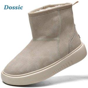 Dossic hiver neige pour Femmes Waterproof Insulated Antiderapant extérieur Doublé Chaussures chaud Suede Classic Short Mini cheville