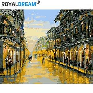 RoyalDream Landschaft DIY Malerei By Nummern Kits Färbung Malen von Zahlen Moderne Wandkunst Bild Geschenk1