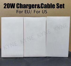 Top Vendeur 20W Kit Chargeur Câble adaptateur USB à C Adaptateur de charge rapide rapide Chager pour Smartphone