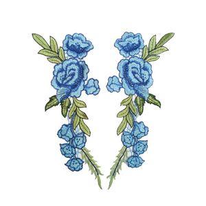 2pcs Set Rose Flower Embroidery Patches Sticker For Clothes Parches Para La Ropa Applique Embroidery Flower Patches H jllmTZ