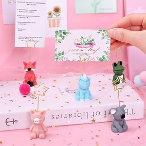 Wedding Heart Photo Clip Table Number Stand Desktop Decoration Metal Place Card Holder Party Supplies yq02935