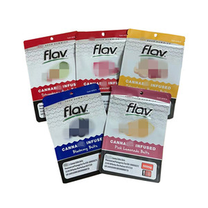 Resellable Mylar Flav 420 Edictos infundidos Gummies Packaging Bag Strawberry Banana Blueberry Belts Apple 500 mg Gummies Gummy Oll Spell Bag