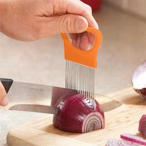 Novos Gadgets Cozinha Cebola Slicer Tomate Legumes Seguro Forquilha Legumes Slicing Ferramentas de Corte OWE2420