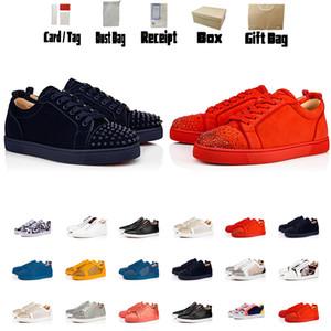 Luxurys Designer Schuh-rote Unterseite Leder-Mann-Turnschuh-Frauen-Schuhe Sneaker Weiß Schuh-flache Booties Low Top Sneaker Boots Größe US5-US13