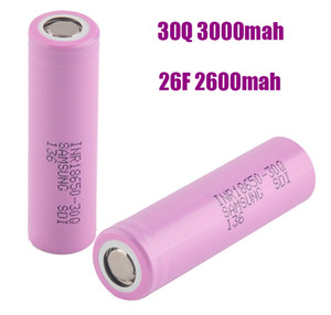Yüksek Kalite 18650 Şarj Edilebilir Pil Samsung 30Q 26F 3000 mAh Yüksek Drenaj Hücresi Lityum Piller Ile MSDS Raporu VS 25R Ücretsiz Kargo