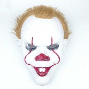 Copertura Soul-ritorno Maschere Pennywise Cosplay Halloween Party Mask capo Horror 2 Clown Giochi di Ruolo mascherina divertente Fa copertina Soul-ritorno Pen Klud