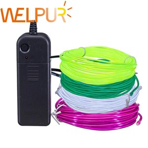 Flexible Neon Light 1m 5m 3v Glow El Wire Rope Tape Cable Strip Led Neon Lights Shoes Clothing Car Waterproof Led Strip bbykRX bdesports