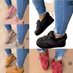 6fgos kadın düz pamuk ayakkabı kadın pamuk iplik terlik kış kalın alt sevimli ayakkabı ev paspas artı kadife terlikler yumuşak rahat