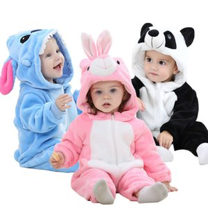 Winter Baby Clothes Panda Newborn Clothes Baby Girls Boys Romper Infant Clothing Jumpsuit Toddler Baby's Sets Stitch Pajamas 201027