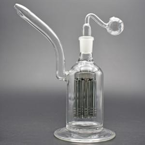 8-дюймовый стеклянный стакан Bong 8ARM PERC Super Function стеклянные водопроводные трубы 18 мм DAB BONG BONG для сухой травы со стеклянным масляным горелкой трубы и гвоздь Banger