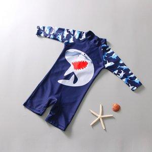 Sıcak çocuk sıcak yüzerek Swimsuitsun geçirmez Mayolu Erkekler ve kızlar tek parça bebek mayo çocuk surfwear çabuk kuruyan EOQ5F EO