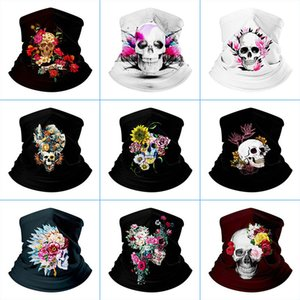 Esporte moda face máscara crânio impresso máscara legal ciclismo máscara de halloween máscara bicicleta equitação bandana face máscaras superar