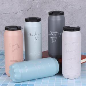 260ML 460ML COLA يمكن زجاجة الصودا يمكن أن الإلهام الفولاذ المقاوم للصدأ زجاجة ماء فحم الكوك جرة مع غطاء مع القش كوستوم تصميم 29 G2