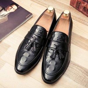 اللباس أحذية cimim ماركة الرجال شرابة عارضة مكتب فاخر مريح إيطاليا المتسكعون الأعمال الرسمي الأزياء حجم كبير الأحذية الجلدية 1
