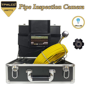7 inch LCD DVR 1000TVL Pipe Inspection 23mm Camera Lens 20M 30M 40M 50M Cable Drain Sewer Pipeline Industrial