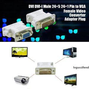 DVI DVI-I Male 24 5 24 1 Pin to VGA Female Video Converter Adapter Plug for DVD HDTV TV D