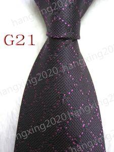 High quality Men's Casual Tie 100%Silk Classic Jacquard Woven Handmade Designer Necktie Wedding Tie and Business Ties G21