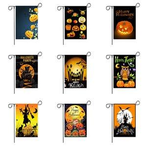 6 Couleur Halloween Jardin Drapeau citrouille coloré Imprimer Drapeau Bannière Happy Halloween Linen Tissu Jardin Drapeau Jardin Décoration GWC2767