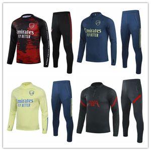 2020/21 Arsen Hombres fútbol jerseys Establece los chándales de Deportes Prendas de entrenamiento Jersey camisa del uniforme pantalones de chándal manga larga corto