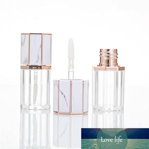 2 pièces 5ml Marbre blanc premium Videz Cap en plastique transparent Lip Gloss Tube bouteilles rechargées Voyage récipient cosmétique 2020 Nouveau