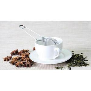 Atacado Solta Primavera Sola De Aço Inoxidável Colher Tea Bola Infusor Filtro Teaspoon Squeeze Filhote Favo Jllryc DH_Niceshop