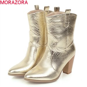 2020 hot sale fashion classic slip-on ankle boots 3 colors soft leather high heels boots for woman big size 34-47210