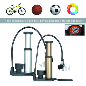 Inflatable bicycle pump 160psi portable foot pump soil inflation outer pipe