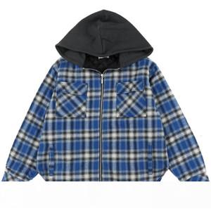 19FW Rhude Lattice Windbreaker Jacket Color Matching Spring Autumn Coats Street Hip Hop Casual Loose Streetwear Outwear HFYMJK253