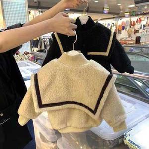 Dibeberabbit Baby-Mantel Seemann-Kostüm Winter-starke warme Kleinkind-Baby-Kleidung Lammwolle Oberbekleidung Teenager Boy Jacke 1-7Y Y1107