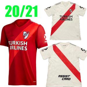 Novo 20 21 River Plate Home Jersey Soccer Martínez D, Alessandro Balanta Cavenaghi Scocco 2020 2021 Camisa de Futebol da Placa do Rio Tailândia