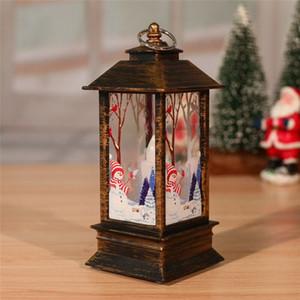 8 stili Lanterna Fiamma Natale Babbo Natale piccola decorazione luminosa della lampada Candeliere pupazzo di neve Elk Squisito creativo decorazione EEE2723