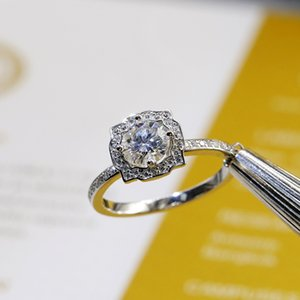 925 Sterling Silver Moissanite Ring Jewelry 1 Ct VVS1 Half Eternity Band Moissanite Diamond Wedding Ring For Women