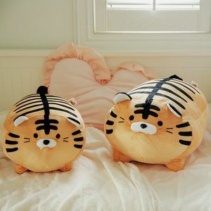 45cm Super Soft Plush Printed Fat Round Tiger Toy Stuffed Tiger pattern Throw pillow Zebra stripes Pig Throw Pillow Bed Cushion 201021