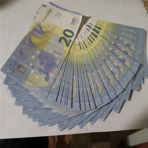 Новые евро деньги Примечание Банкноты Мужчины Подарки Бумага 20 евро Заливки Цены на поддельную подделку для поддельных бизнес-подделов для коллекции PROP Paper Money Bank Money Rumwj