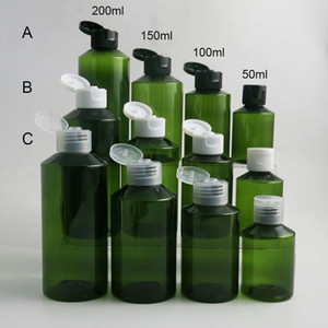 30 x Refillable Empty 50ml 100ml 150ml 200ml Shoulder slope PET Plastic Cream Skin Care Bottles For Shampoo