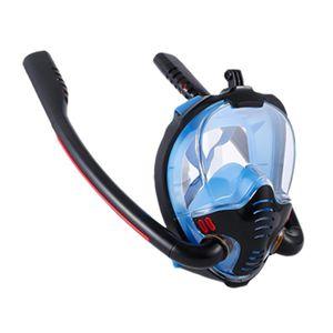 Masques de plongée Masque Snorkeling Masque Double tube Silicone Plein Sec Natation Lunettes autonomes Sous-gardes respiratoires sous-marines