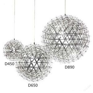 Heat Stainless Steel Pendant Lights Lamps 110V 240V LED Firework Light Ball for Restaurant Cafe Bar Dining Living Room home indoor lighting