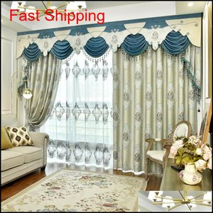 European High Precision Relief Jacquard Curtains For Living Di jllYth Fight2010