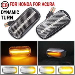 2pcs Dynamic LED LED Side Lights 12V Flowing Gurning Signal Light Light Side Light Lamp Blinker para Honda Civic Accord Integra