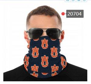 Auburn NCAA Tiger Nahtloser Nackengaiter Schild Schal Bandana Gesichtsmasken UV-Schutz für Motorrad Radfahren Reiten Laufbänder