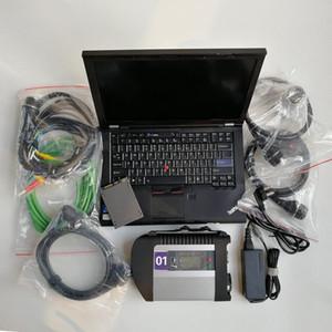 Prêt à l'emploi MB Star C4 SD C4 avec V09 / 2020 Logiciel 360GB SSD installé bien sur ordinateur portable T410 utilisé pour le diagnostic Auto Star