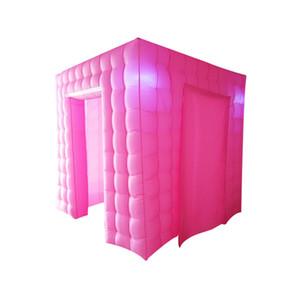 بريق الوردي اللون الزفاف مكعب خيمة نفخ صور بوث الهواء سيلفي عيد ميلاد بوث بوث الدعائم للأحزاب أو العروض