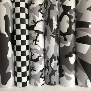 Preto branco cinza camo vinil filme camuflagem camuflagem carro vinil carro bolha de ar livre para motocicleta adesivo de carro decalque
