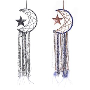 Dreamcatcher Bells Hang Moon Catcher Dreamcatcher Fashion Tassel Feather Dream Catcher Wall Hanging Room Decoration Pendant