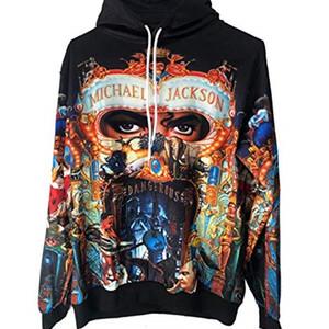 Michael Jackson Perigoso Syles Casaco MJ Cosplay Moletom Men's Outono Casual Hoodies